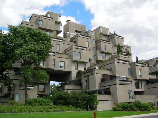 Habitat 67 complejo brutalista en Canadá