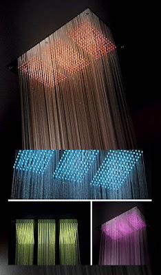 Ducha con LEDs