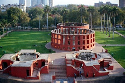 Jantar Mantar observatorio en Delhi, India