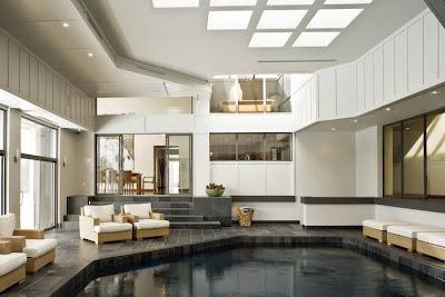 Ambiente de la piscina