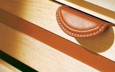 Tirador de cuero para cajón de vestidor