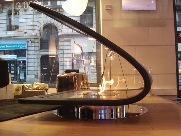 Chimenea a alcohol de diseño contemporáneo