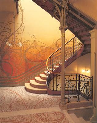 Escalera del Art Nouveau