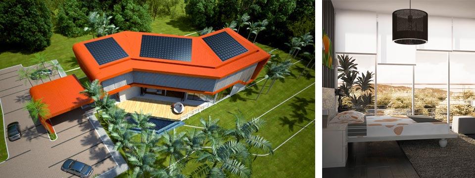 Arquitectura de casas proyecto de casa tropical ecol gica for Proyectos de casas ecologicas