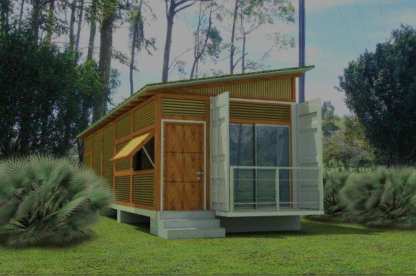 Arquitectura de casas peque a casa container en estados - Contenedor maritimo casa ...