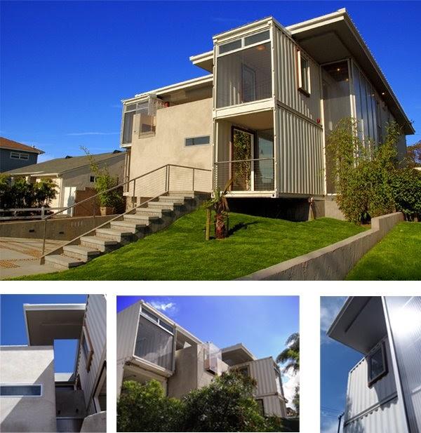 Arquitectura de casas contenedores reciclados a modernas - Contenedores usados para vivienda ...