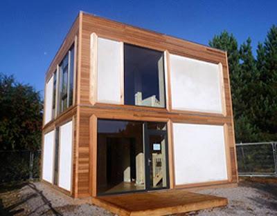 Casa moderna de fardos
