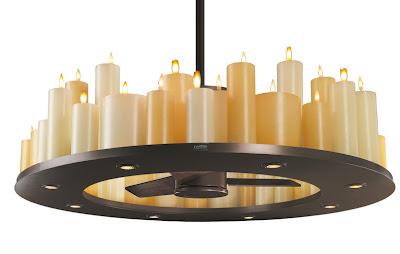 Lámparas velas ventilador para decoracion