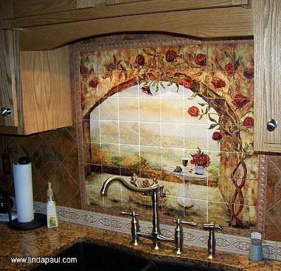 Cocina decorada mayólica