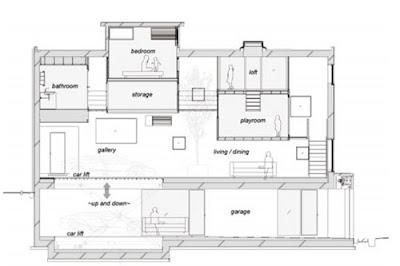Plano de corte de arquitectura