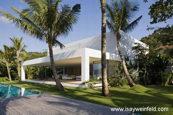 arquitectura de casas moderna residencia tropical con