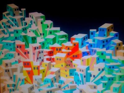 Cuadro en favela a colores