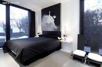 Dormitorio de la casa prefabricada española
