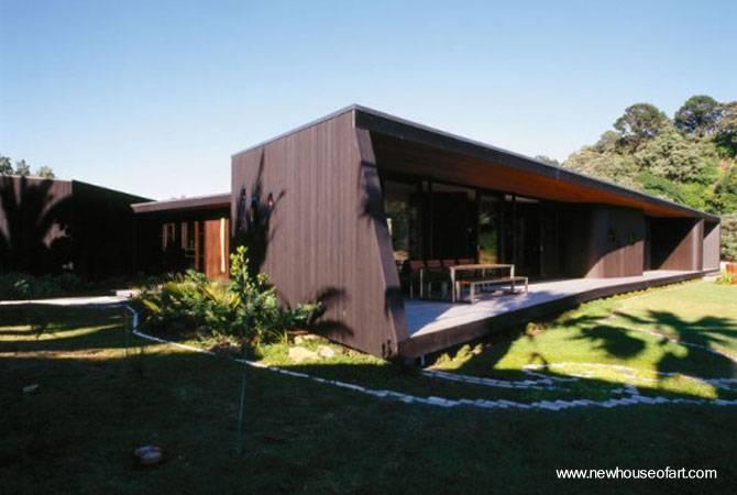 casas modernas por dentro. Casa de madera moderna