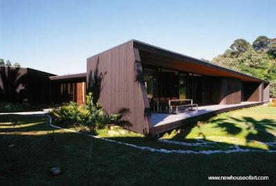 Casa de madera moderna contrafachada