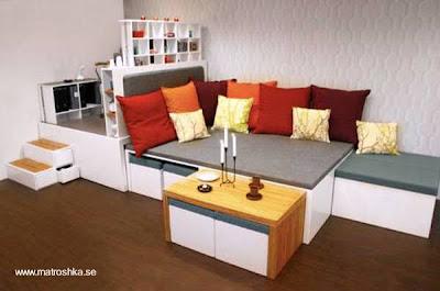 Mueble de madera multifunción para el hogar