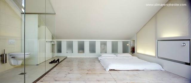 Casa terraza dormitorio baño