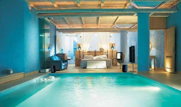 Arquitectura de casas piscina interior con dormitorio - Casas con piscina interior ...