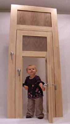 Puertas interiores abiertas