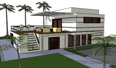 Render de casa moderna