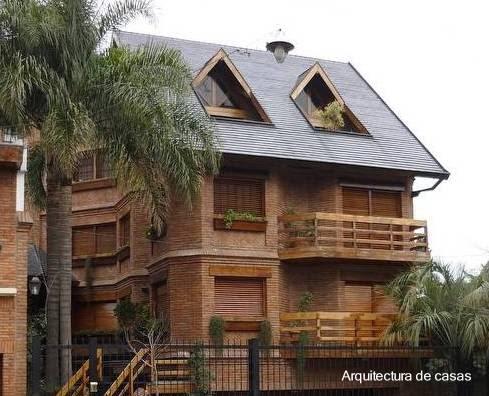 Arquitectura de casas chalets modernos for Planos de chalets modernos