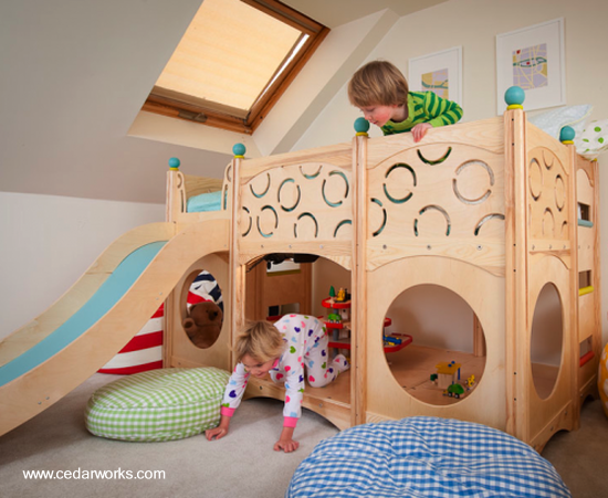 arquitectura de casas muebles infantiles de cedro