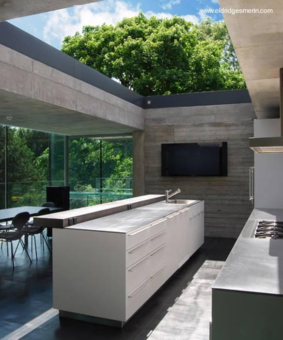 Arquitectura de casas casa contempor nea de concreto y for Techos de concreto para casas