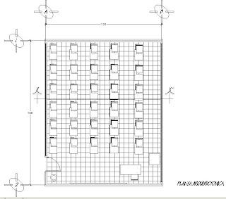 Perspectivas planta corte y perspectiva del salon de clases - Planta de salon ...