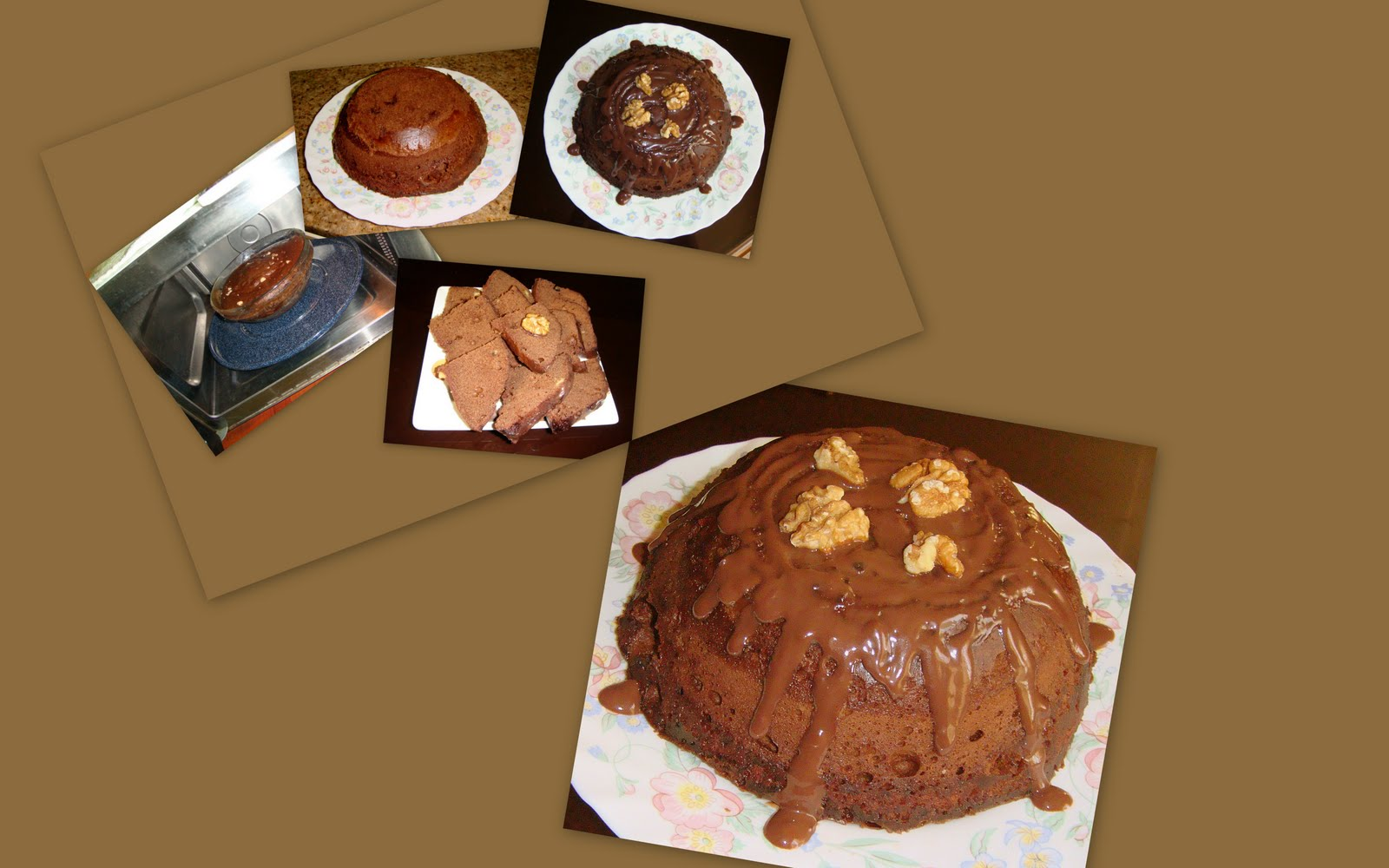 Chocolate Walnut Sponge Cake Recipe