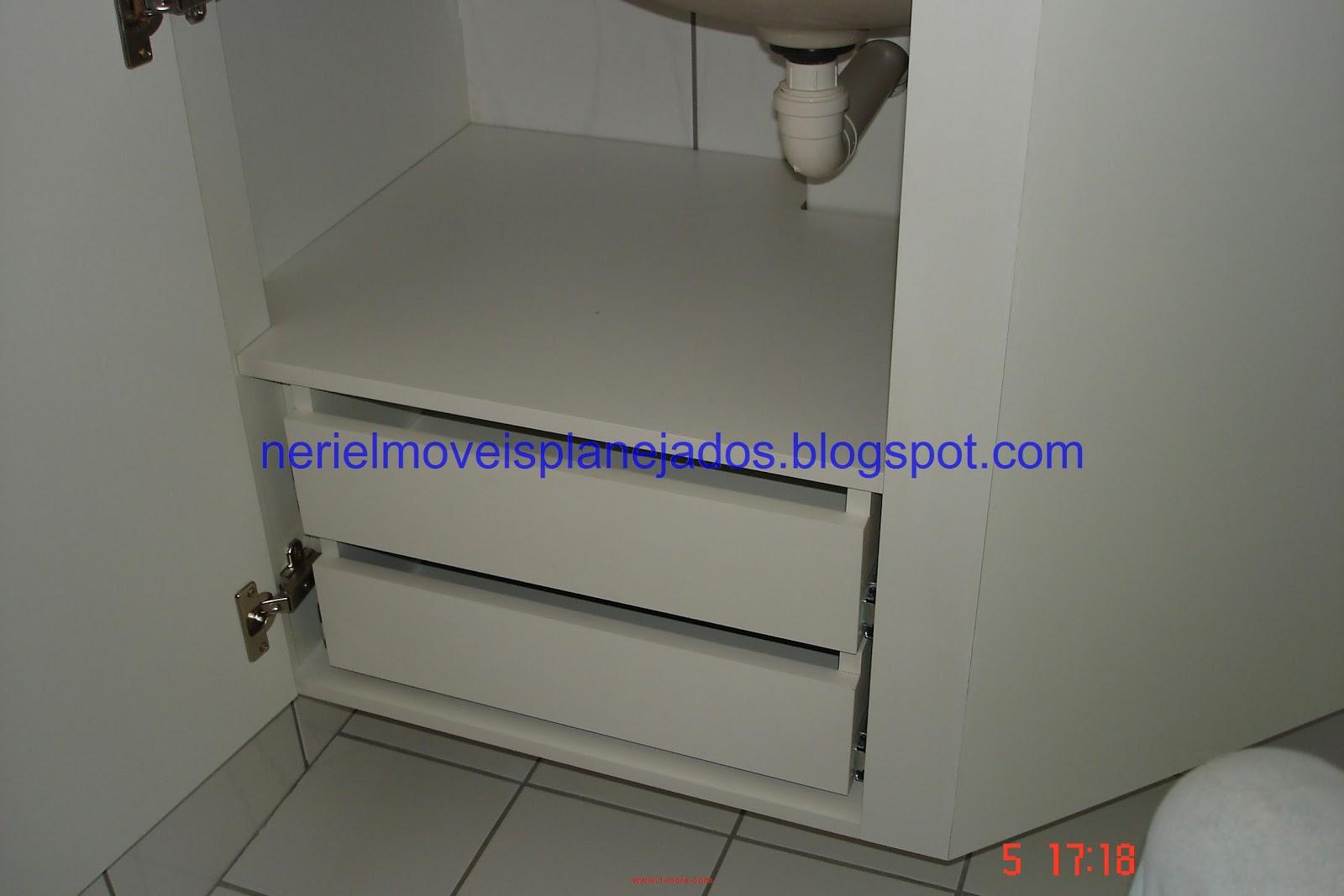Neriel Móveis Planejados: Banheiro Pequeno II #A53526 1600x1067 Balcao Banheiro Fibra