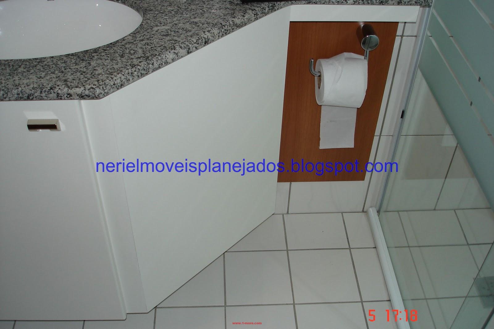 Neriel Móveis Planejados: Banheiro Pequeno II #5B331C 1600x1067 Balcao Banheiro Fibra
