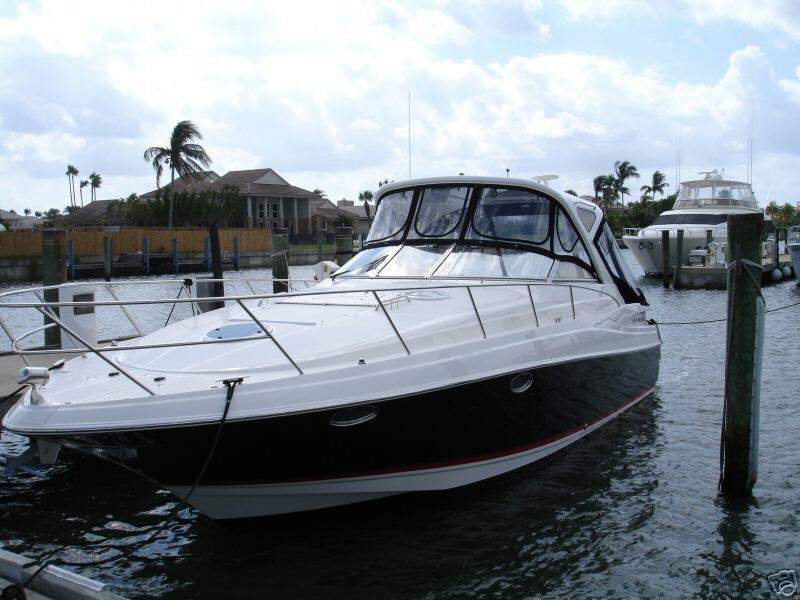 Nice boats new 2006 regal 3560 38 foot black hull hard top for Nice fishing boats