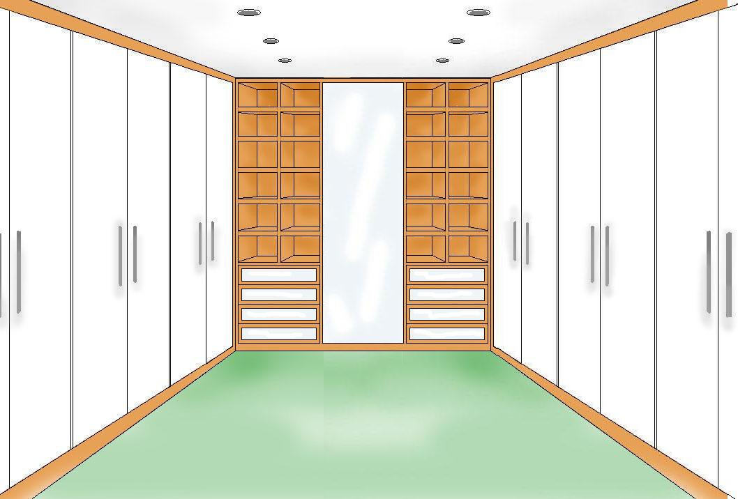 Cabina armadio con ante - Progetti cabine armadio ...