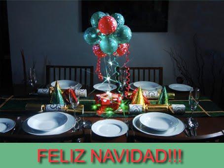 Decoraciones de mesa de globos imagui - Decoracion fiesta navidad ...