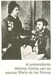 Don Alfonso Carlos I y Doña María de las Nieves