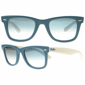 blue raybans k176  Blue And White Ray Bans