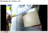 1ª  parte decoupage em mdf com tinta esmalte sintético