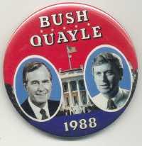 Bush-Quayle button