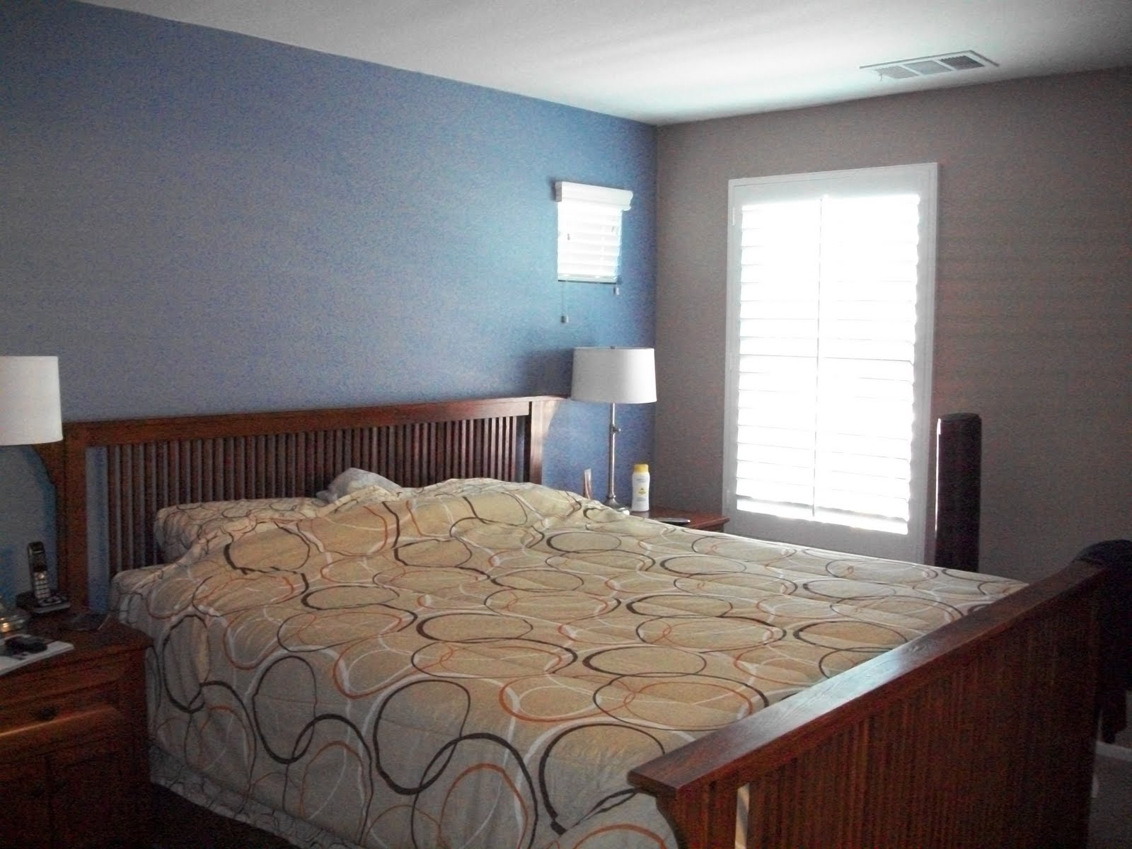 Jeffrey and kristi tague our life together Master bedroom light blue walls