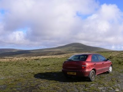 On the Isle of Man with Snaefell in the background