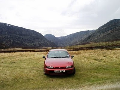 In the remote Glen Mark in the Angus Glens of Scotland
