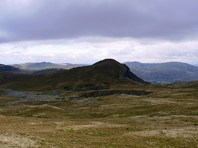 Looking back across East and West Twll to Moel-yr-hydd