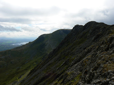 The rocky ridge of Craigysgafan