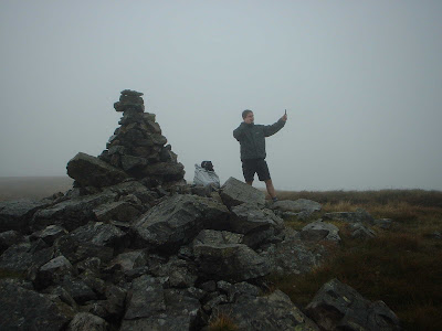 Matt tries to measure the wind speed on Archy Styrigg