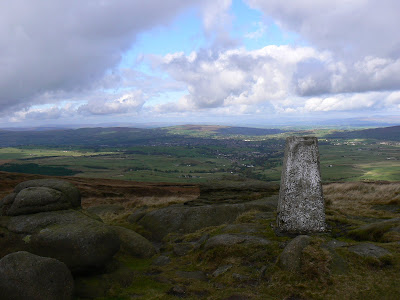The trig point on Boulsworth Hill - one of the 300 primary trig points erected in the UK
