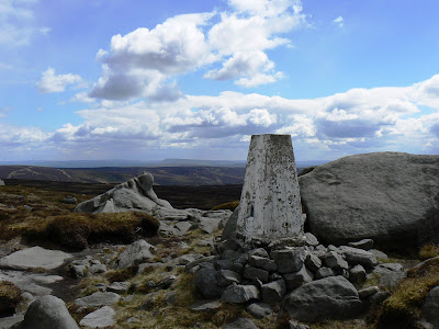 The trig point on Wolfhole Crag - one of the more remote trig points in the Pennines