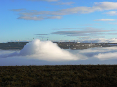 My plans to visit the Scout Moor Windfarm on Hailstorm Hill were 'put on ice' today