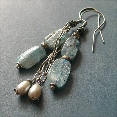 kyanite earrings on etsy