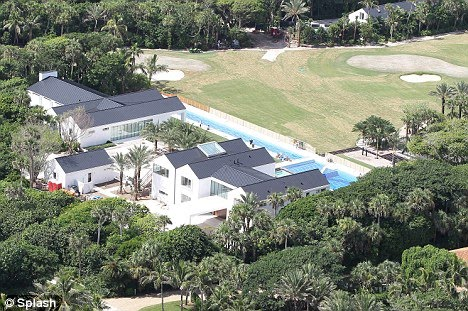 a new house in the Florida enclave of Jupiter, near Tiger Woods house on
