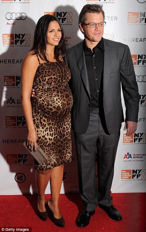 luciana damon pregnant. Matt Damon#39;s pregnant wife